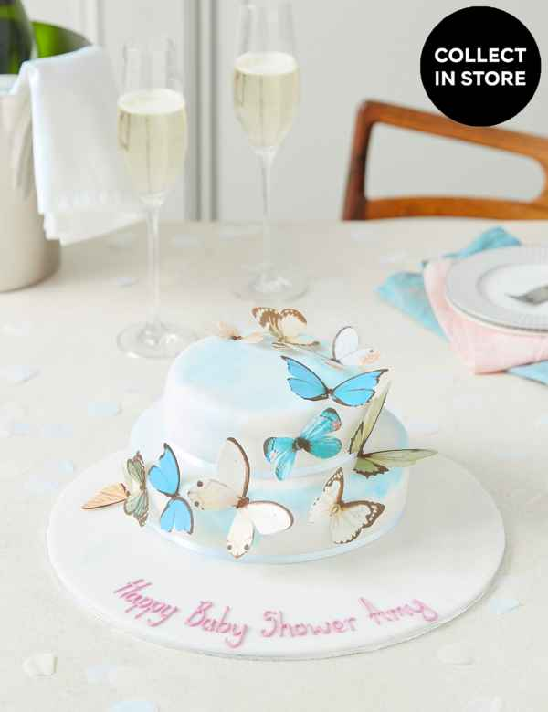 48920367ddc9 Personalised Butterfly Cascade Cake (Serves 28)