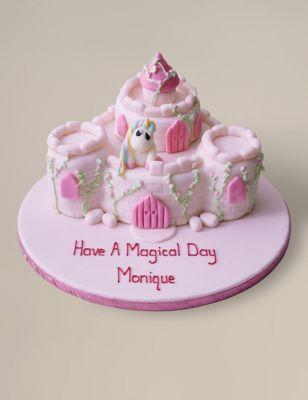 Personalised Fairytale Castle Cake Serves 36 M Amp S