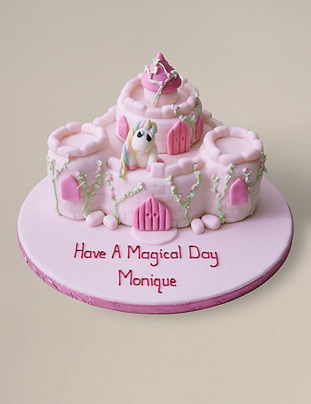 Personalised Fairytale Castle Cake (Serves 36)