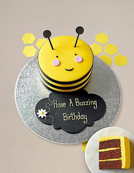 Personalised Stripe the Bumblebee Cake (Serves 16)