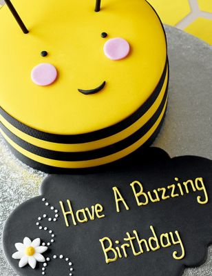 Terrific Personalised Stripe The Bumblebee Cake Serves 16 Ms Personalised Birthday Cards Paralily Jamesorg