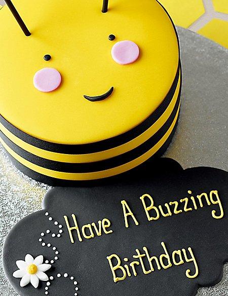 Personalised Stripe The Bumblebee Cake Serves 16