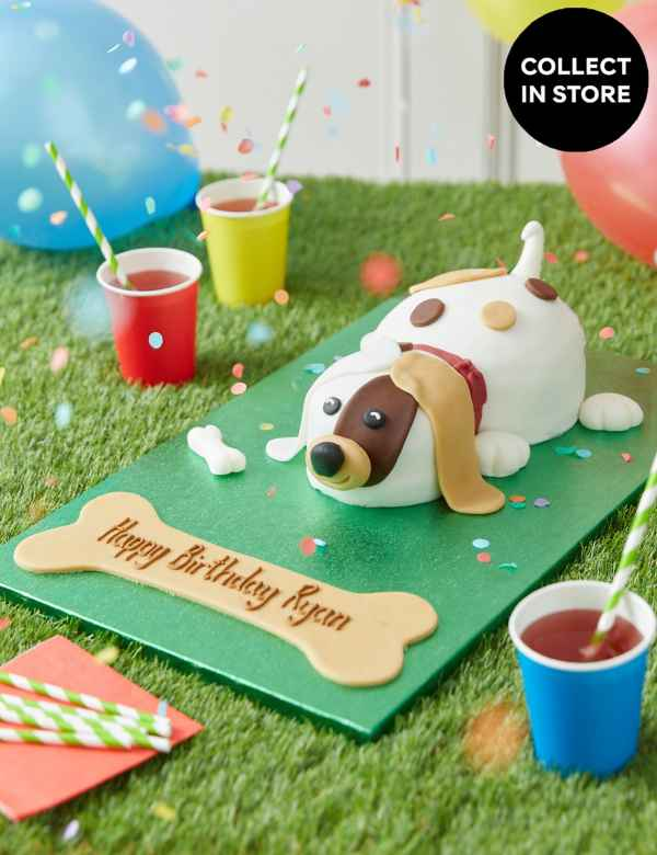 Personalised Buddy The Puppy Cake Serves 24