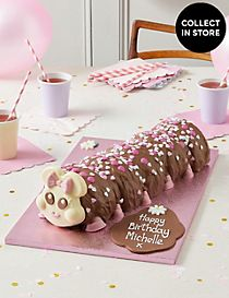 Connie the Giant Caterpillar Cake