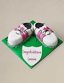 Hot Pink Sports Boots Cake