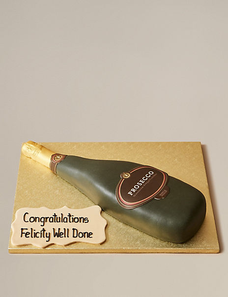 Personalised Prosecco Bottle Cake (Serves 16)