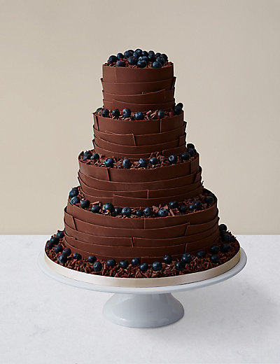 how to make a chocolate wedding cake chocolate ribbons wedding cake milk chocolate available 15798