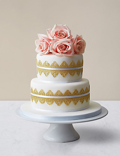 marks and spencer wedding cakes 2018 modern lace wedding cake available to order until 5th 17173