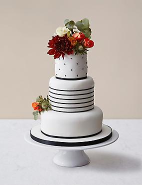Black Vogue Wedding Cake - Assorted Flavours (Serves 100)