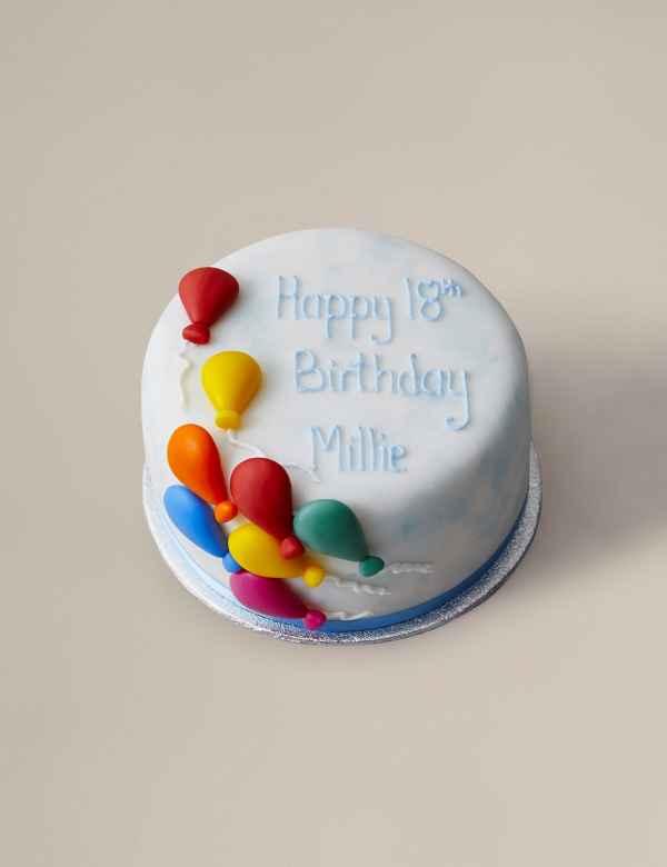 Personalised Balloon Celebration Cake Serves 14