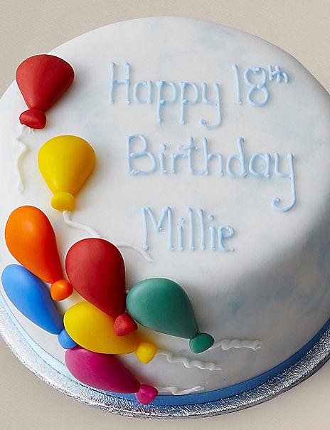 Personalised Balloon Celebration Cake (Serves 14)
