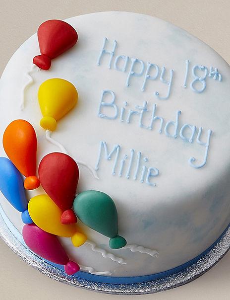 Personalised Gluten-Free Balloon Celebration Cake (Serves 14)