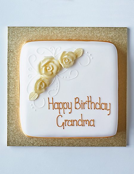Yellow Classic Rose Sponge Cake