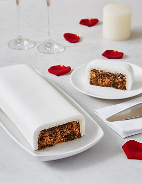 Wedding Cutting Bar Cake - Fruit with White Icing (Serves 22)