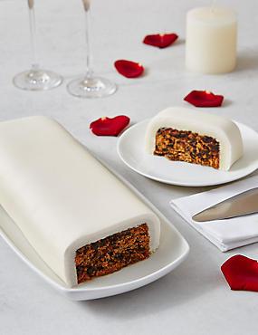 Wedding Cutting Bar Cake - Fruit with Ivory Icing (Serves 22)