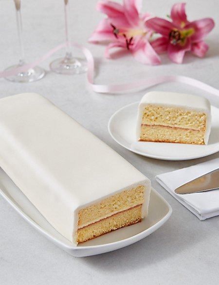 Wedding Cutting Bar Cake - Sponge with Ivory Icing (Serves 22)