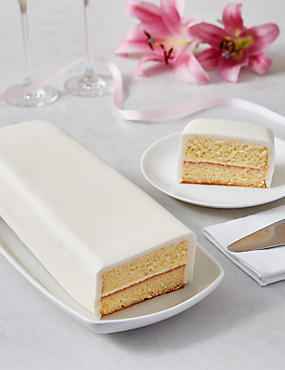 Wedding Cutting Bar Cake - Sponge with Ivory Icing (Serves 22)
