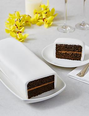 Wedding Cutting Bar Cake - Chocolate with White Icing (Serves 22)
