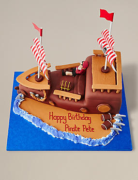 Personalised Pirate Ship Cake Serves 40