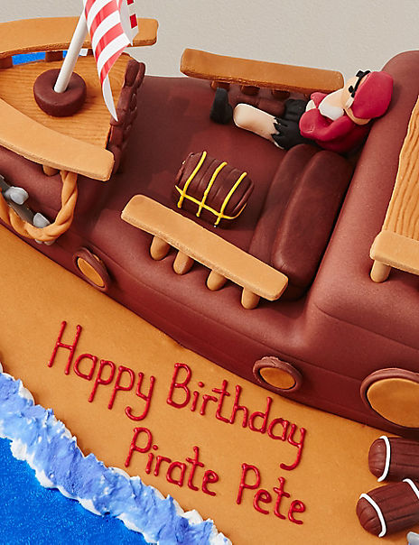 Personalised Pirate Ship Cake (Serves 40)