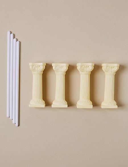 4 Ivory Pillars & 4 Dowels