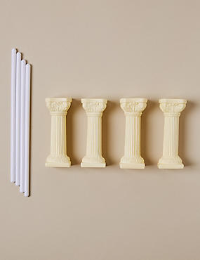 4 Ivory Pillars & 4 Dowels