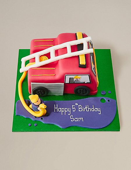 personalised fire engine cake serves 42 m s