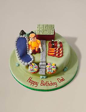 Personalised Gardening Cake Serves 32