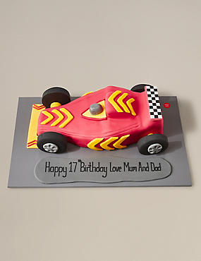 Personalised Racing Car Cake (Serves 35)