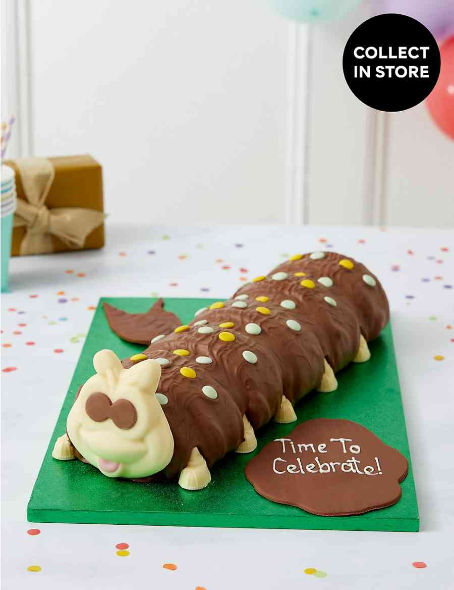 Personalised Giant Colin The Caterpillar Cake Serves 40