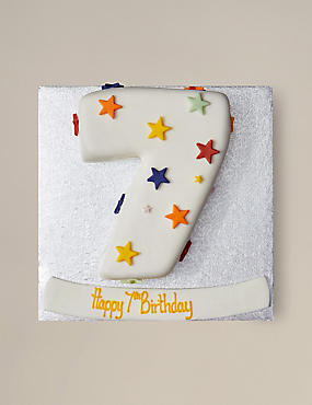 Stars Number Sponge Cake (Single Digit)