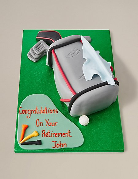 Golf Bag Cake (Available to order until 5th February 2018)