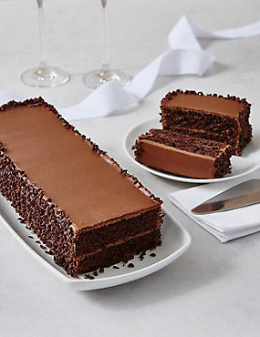 Wedding Cutting Bar Cake - Chocolate Sponge with Chocolate Ganache (Serves 22)