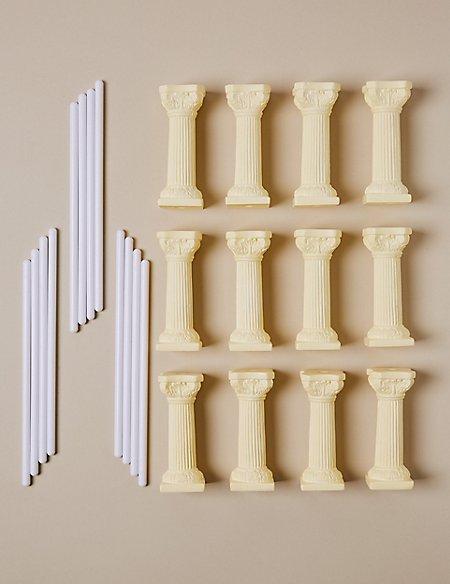12 Ivory Pillars & 12 Dowels