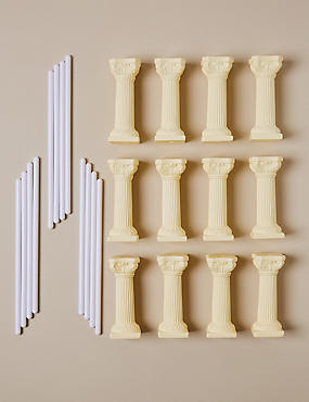 12 Ivory Pillars & 12 Dowels