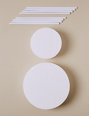2 Polystyrene Blocks & 8 Dowels - Wedding Cake Accessories