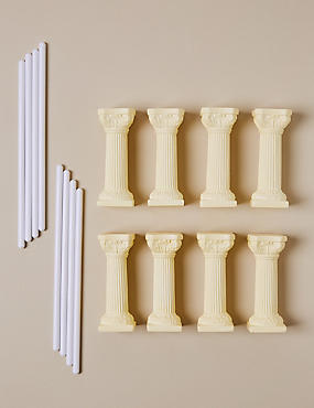 8 Ivory Pillars & 8 Dowels
