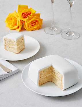 Wedding Taster Cake - Lemon Sponge with White Icing (Serves 4)