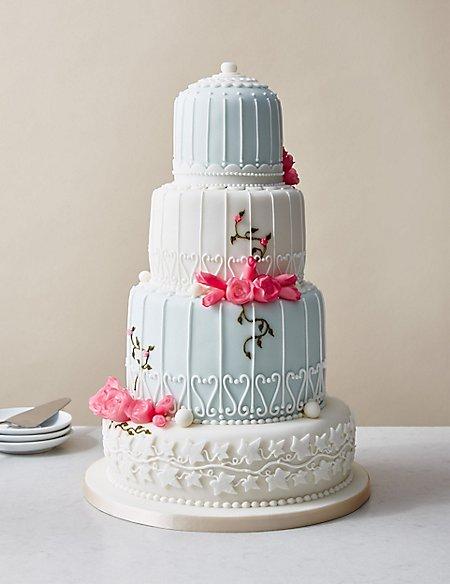 Birdcage Wedding Cake - Assorted Flavours (Serves 150)