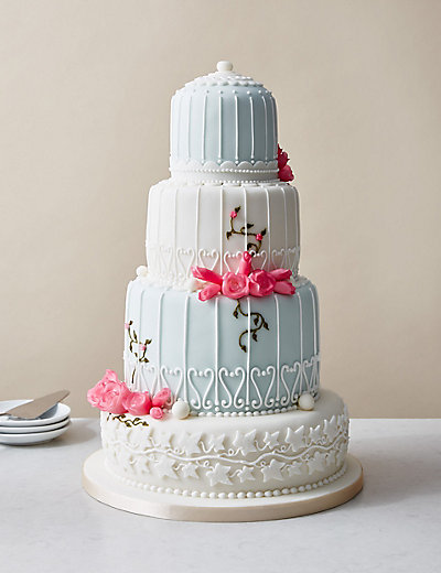marks and spencer chocolate wedding cake birdcage wedding cake serves 150 m amp s 17162