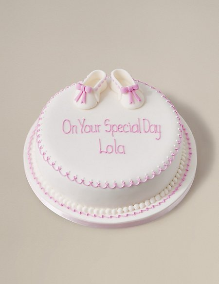 Little Boots Cake - Fruit - Pink (Available to order until 5th February 2018)