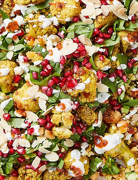 Created by Chefs Finished by You - Middle Eastern Spiced Cauliflower with Fruity Grains and Harissa Dressing (Serves 9)