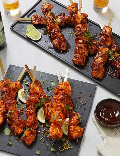 Chicken Kebab Selection (6 BBQ, 6 Piri Piri)