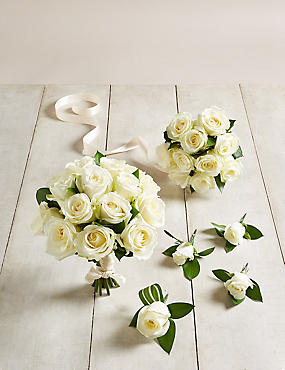 The Collection White Rose - Wedding Party Package