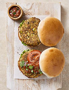 Edamame Bean Burgers (4 Pieces)