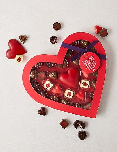 Large Velvet Heart Box of Chocolates