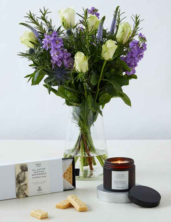Thinking Of You Rose Shortbread Scented Candle Gift Free Delivery