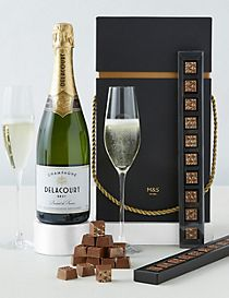 The Collection Champagne and Chocolates Gift Set