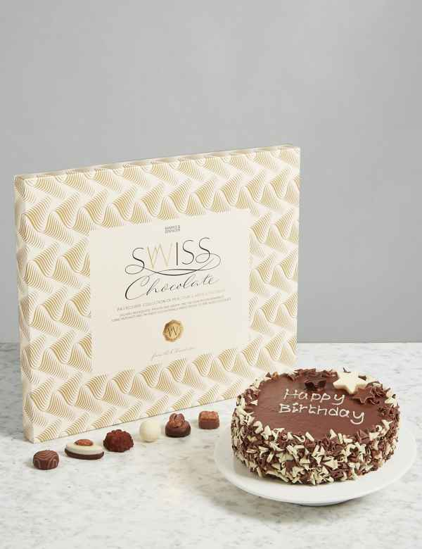 The Extremely Chocolatey Birthday Cake Swiss Chocolate Gift Selection