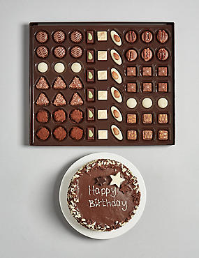 The Extremely Chocolatey Birthday Cake & Swiss Chocolate Gift Selection